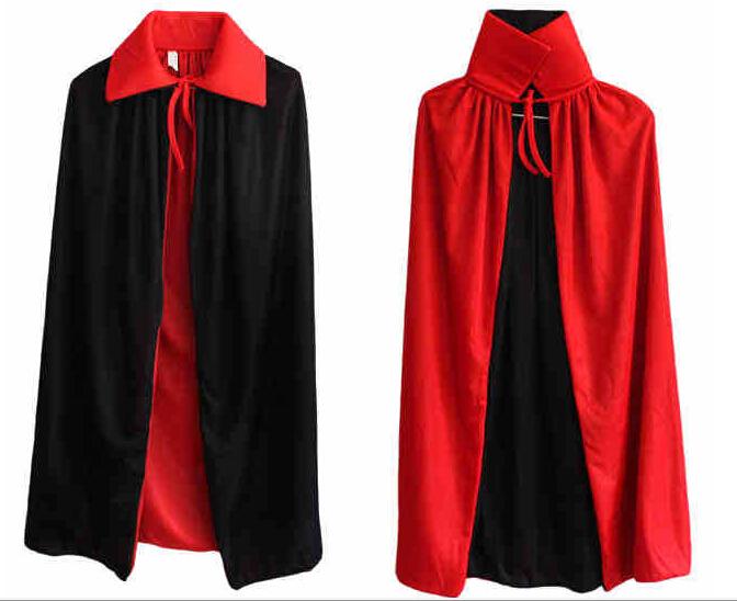 Хэллоуин ведьмы воротник черный и красный плащ плащ вампира мыс носить на обеих сторон двойной плащ 1.4 м ShopWini