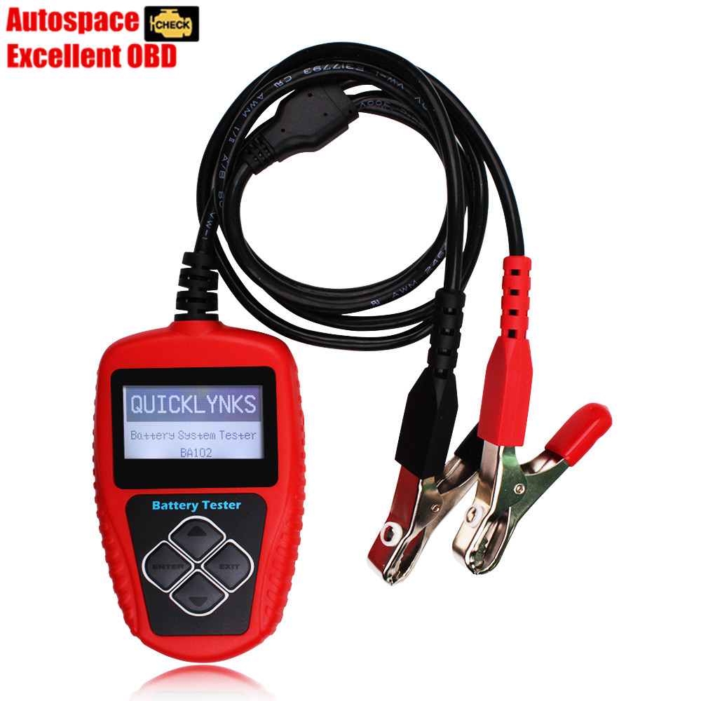 Free Shipping QUICKLYNKS BA102 12 Volt Battery Analyzer Tester Directly Detect Bad Car Cell Battery<br><br>Aliexpress