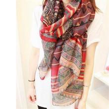 2015 New Fashion Trendy Bohemian Women's Long Print Scarf Wrap Ladies Shawl Girl Large Pretty Scarf Tole 6 Styles Cai0624(China (Mainland))