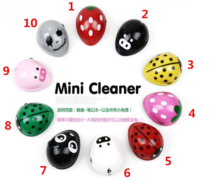 Cute Lovely cartoon Electric Battery Operated Desktop Vacuum Cleaner Mini Dust Cleaner(China (Mainland))