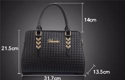 Trendy Luxury Crocodile/Knitting PU Leather Handbag Imported PU Women Designer Shoulder Bag Fashion Elegant Ladies Crossbody Bag