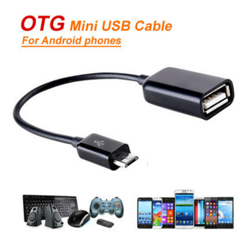 Microusb To Female USB Host Cable OTG Adapter for Lenovo Xiaomi Lg Tablet Android Reader Cabo Otg Adaptador Cavo Para Adaptateur(China (Mainland))