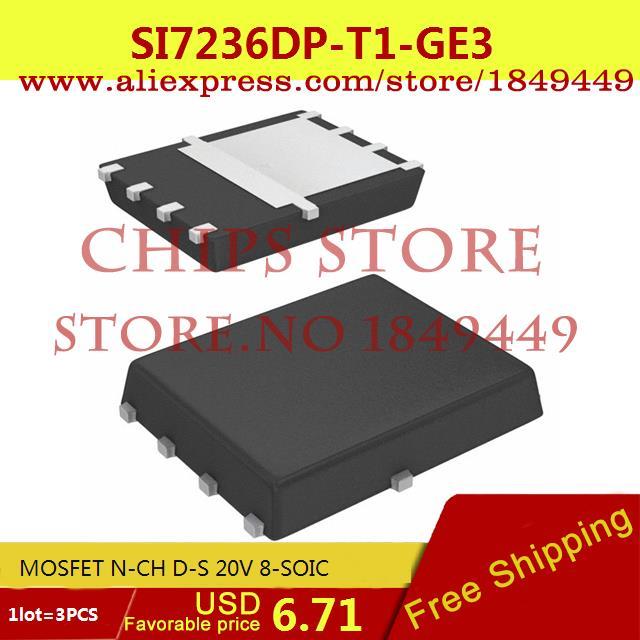 Бесплатная Доставка Регулятор Напряжения SI7236DP-T1-GE3 MOSFET N-CH D-S 20 В 8-SOIC 7236 SI7236 3 ШТ. max6225aesa t 8 soic