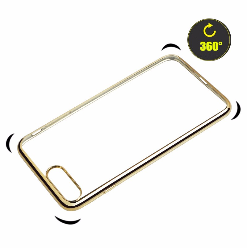 Plating Gilded Phone Case For iPhone 7/7 Plus Ultrathin Back Protector Cover With Soft TPU For iPhone7 Case