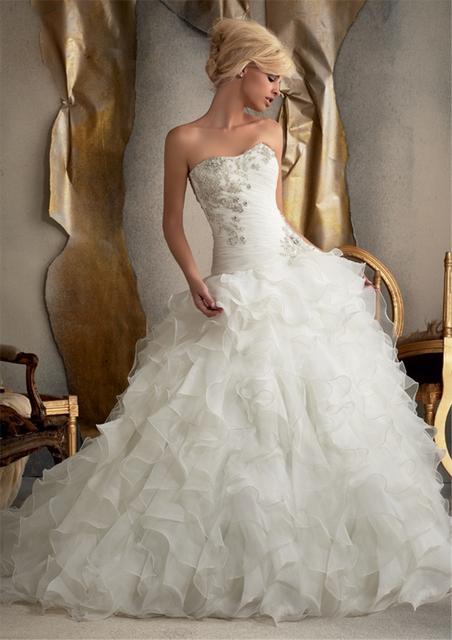 Мода линии Жилетidos Noiva аппликация с бисером одеяние де свадебная свадебное платье ...