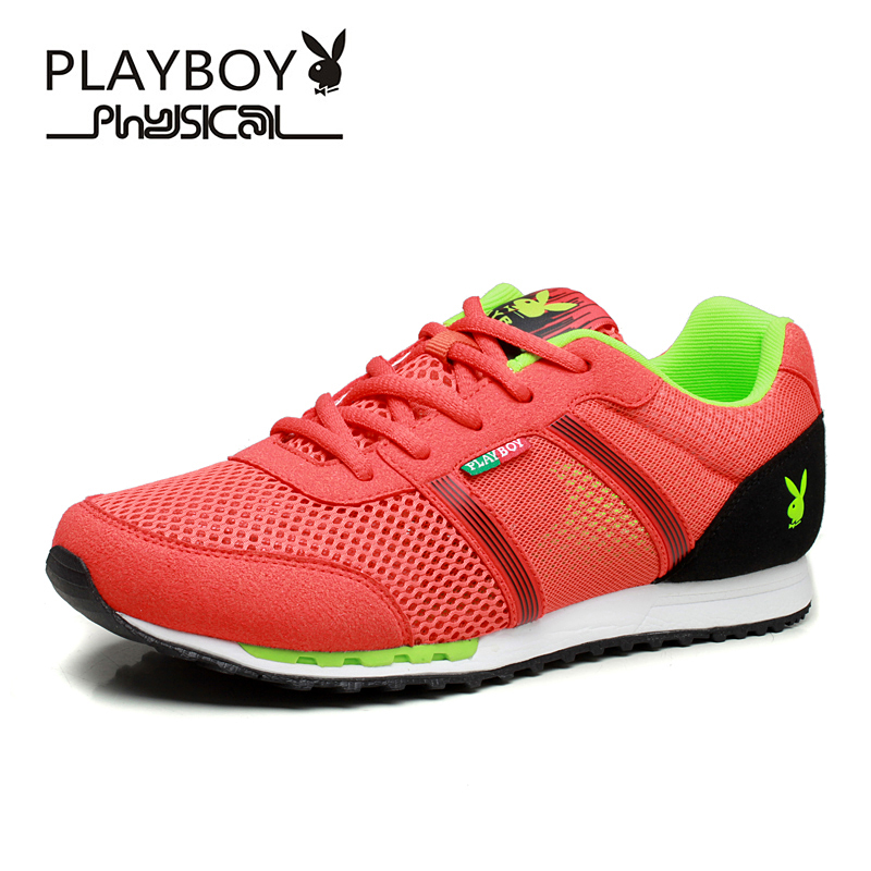 PLAYBOY Men Casual Shoes Plus Size Summer Style Mesh Splicing Shoe Lace Flat Light weight Breathable Fashion - Feng shang co., LTD store