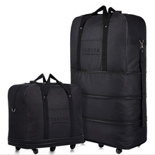 Large capacity Three Tier Expandable folding bag Oxford cloth Bag universal wheel Consignment by Air travel bags luggage bags (China (Mainland))