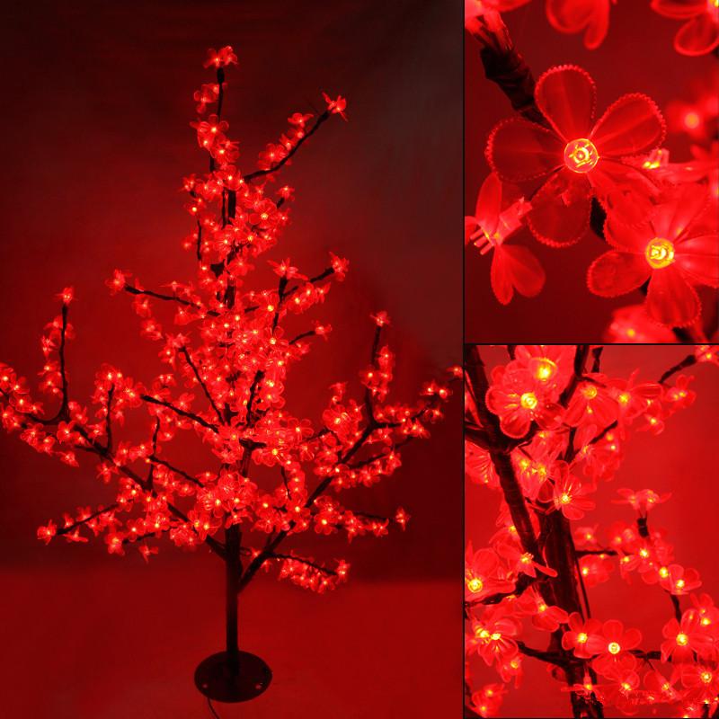1.5M Waterproof LED cherry blossom Crystal tree Night lights branches indoor lighting Christmas new year wedding decoration LAMP(China (Mainland))