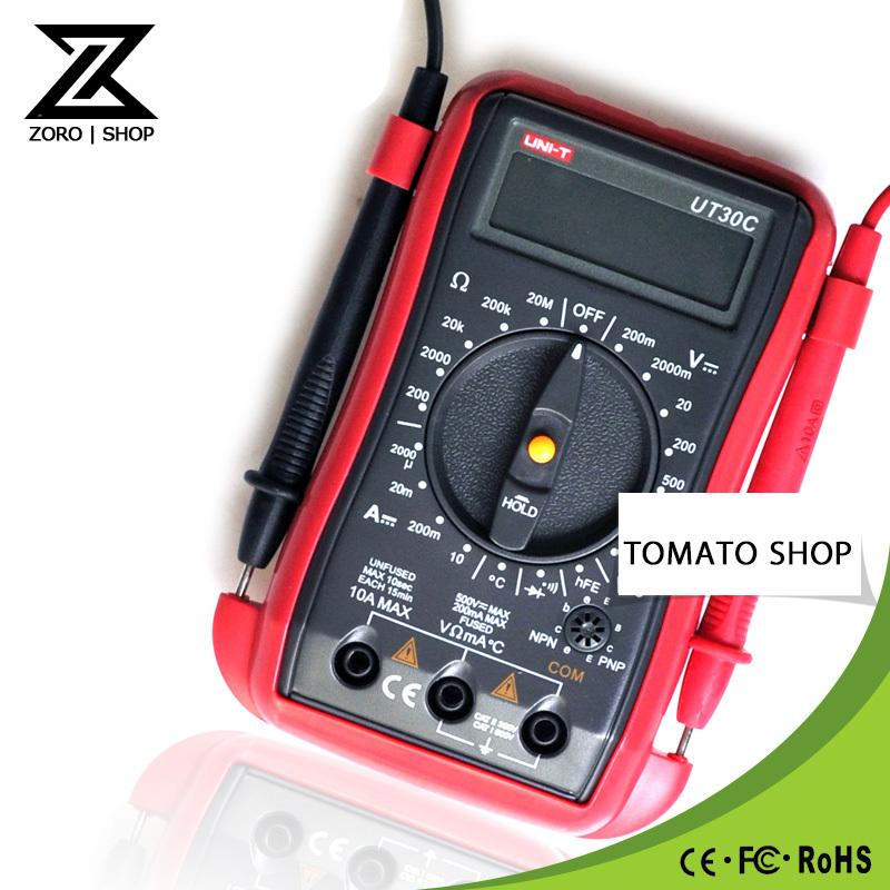 2PCS UT30C Palm-Size Digital Multimeter Data Hold DC/AC Voltage Measurement Temperature Test от Aliexpress INT