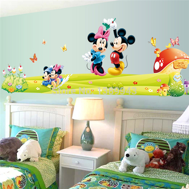 Commickey Mouse Kids Room : for Kids Room Mickey Mouse Stickers Mickey Decal on Wall for Kids ...