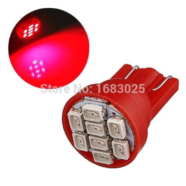 Big Promotion 10pcs/lot White Red Blue T10 194 168 W5W 8 SMD 3020 LED Car Auto Wedge Side Lights Lamp Bulb(China (Mainland))