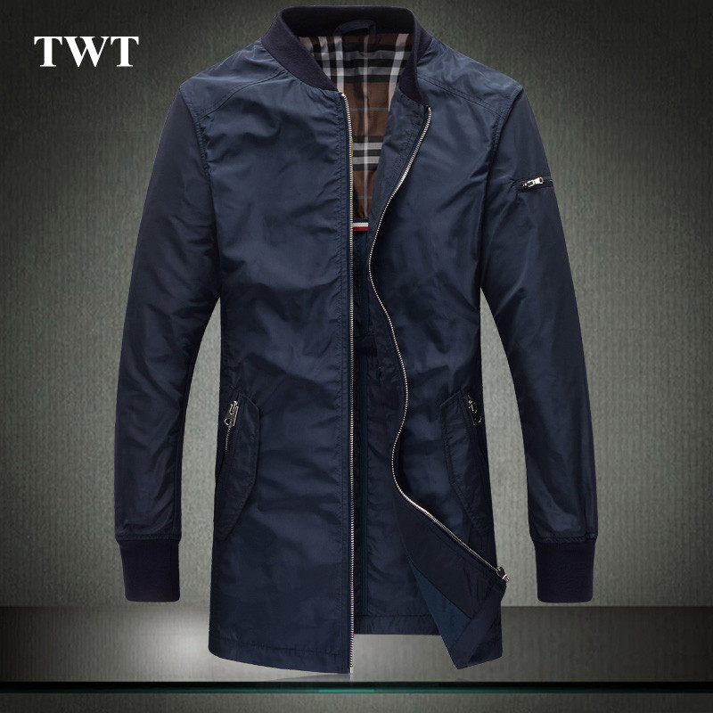 Mens fashion collar zipper jacket British style spring 2016 mens clothing brand China long jacket of cultivate ones moralityОдежда и ак�е��уары<br><br><br>Aliexpress