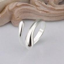 New Listing 925 sterling silver rings fashion jewelry Free shipping teardrop shaped wemen lady wedding opening
