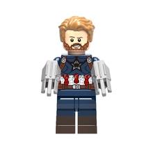 Super Heroes Legoinglys Мстители: Бесконечность ВОЙНЫ ЖЕЛЕЗНЫЙ ЧЕЛОВЕК танос Тор Черная пантера Сокол гамора Халк Вонг Локи строительные блоки(China)