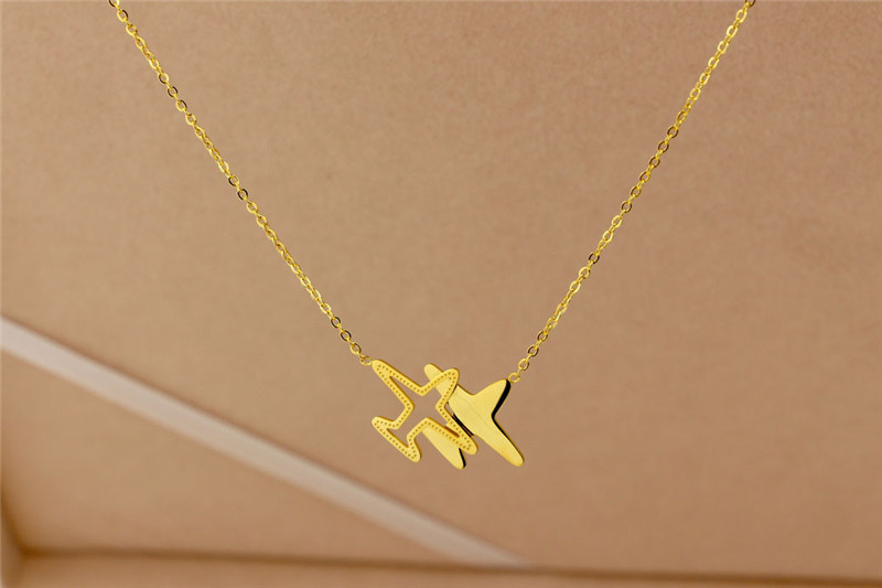 316L-Stainless-Steel-Fashion-Plain-Shape-Pendant-Necklace-Gold-Chain-Necklace-Never-Fade-For-Women-Gift (1)