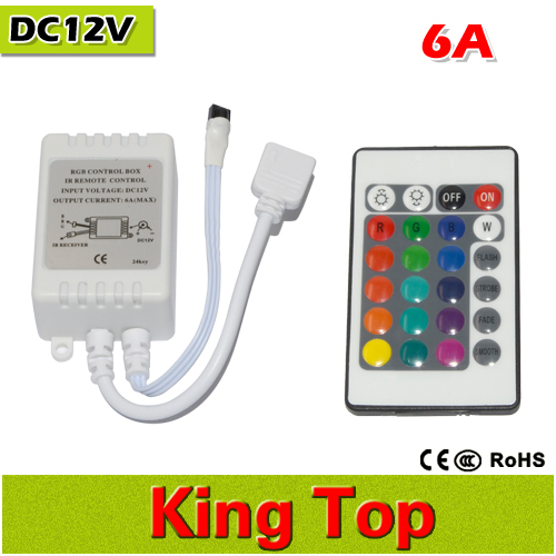 New Mini 24key LED Controller RGB Colorful With IR Remote Control Mini Dimmer for SMD5050 / 3528/5630 Led Strip Lights DC12V(China (Mainland))