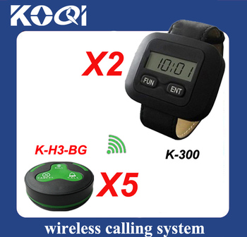 Waiter Calling System of 5 pcs of service bells and 2 pcs of watch receiver