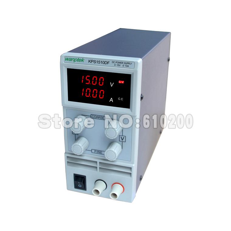 Free shipping KPS1510DF 15V10A 110V-230V 0.1V/0.001A EU LED Digital Adjustable Switch DC Power Supply mA display<br><br>Aliexpress