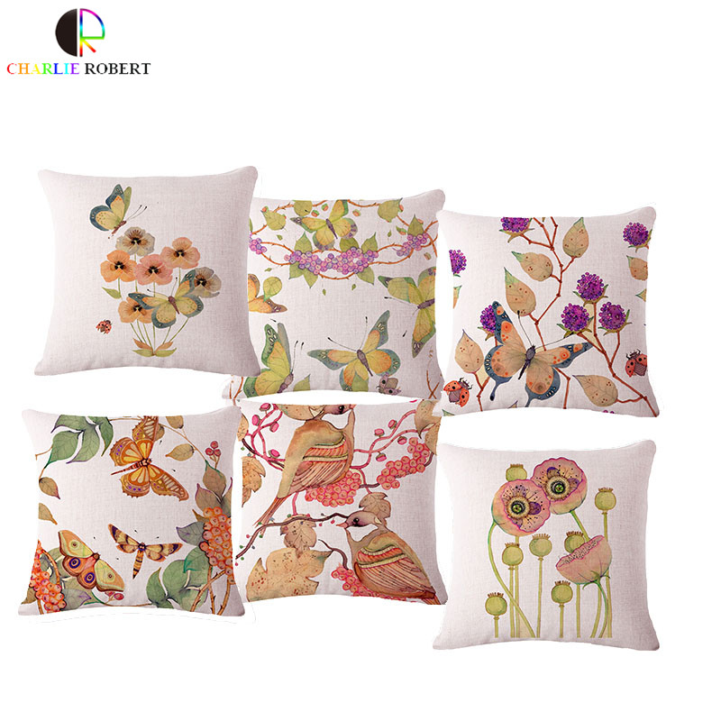 European Animal Office Seat Back Cushion Without Filling Home Sofa Decorative Throw pillow For Chair Pillowcase Cojin HH902(China (Mainland))