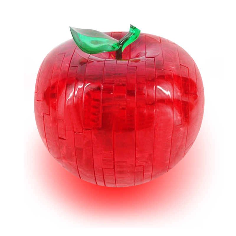 stereo Crystal Apple Puzzle / 3D three-dimensional crystal apple puzzle(China (Mainland))