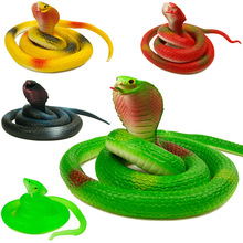 Buy 75cm Emulational Snake Rubber Toys dolls Funny Halloween toy gift Gag Playing Jokes Toys Animal cobra Toys children boy for $3.99 in AliExpress store