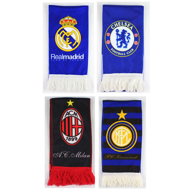 Free Shipping Football Team Real Madrid Neckerchief Scarf Fashion Sports Soccer Club Badge Scarves Best Gift(China (Mainland))
