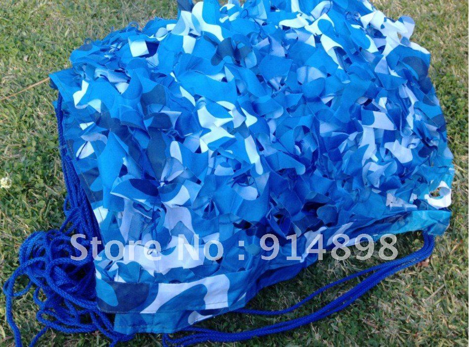 2x3m ocean blue camouflage net netting swimming pool backyard sun shade canopy. Black Bedroom Furniture Sets. Home Design Ideas