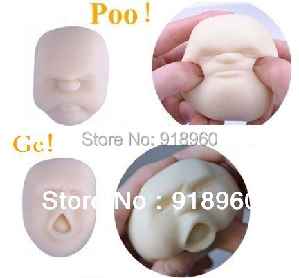 New Novelty Toys/Vent Human Face Ball/Stress Relievers Toy/Anti-stress Tool for clerk/4 pcs/lot/Japanese idea/With Box/TOW
