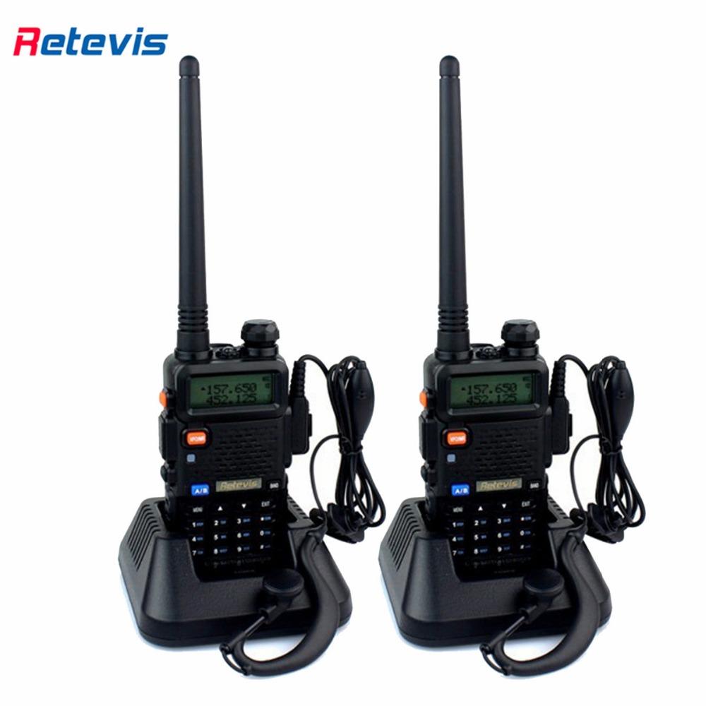 2pcs Retevis RT-5R 5W 128CH UHF VHF Portable Hf Transceiver Ham Radio Walkie Talkie Two Way Radio A7105A(China (Mainland))