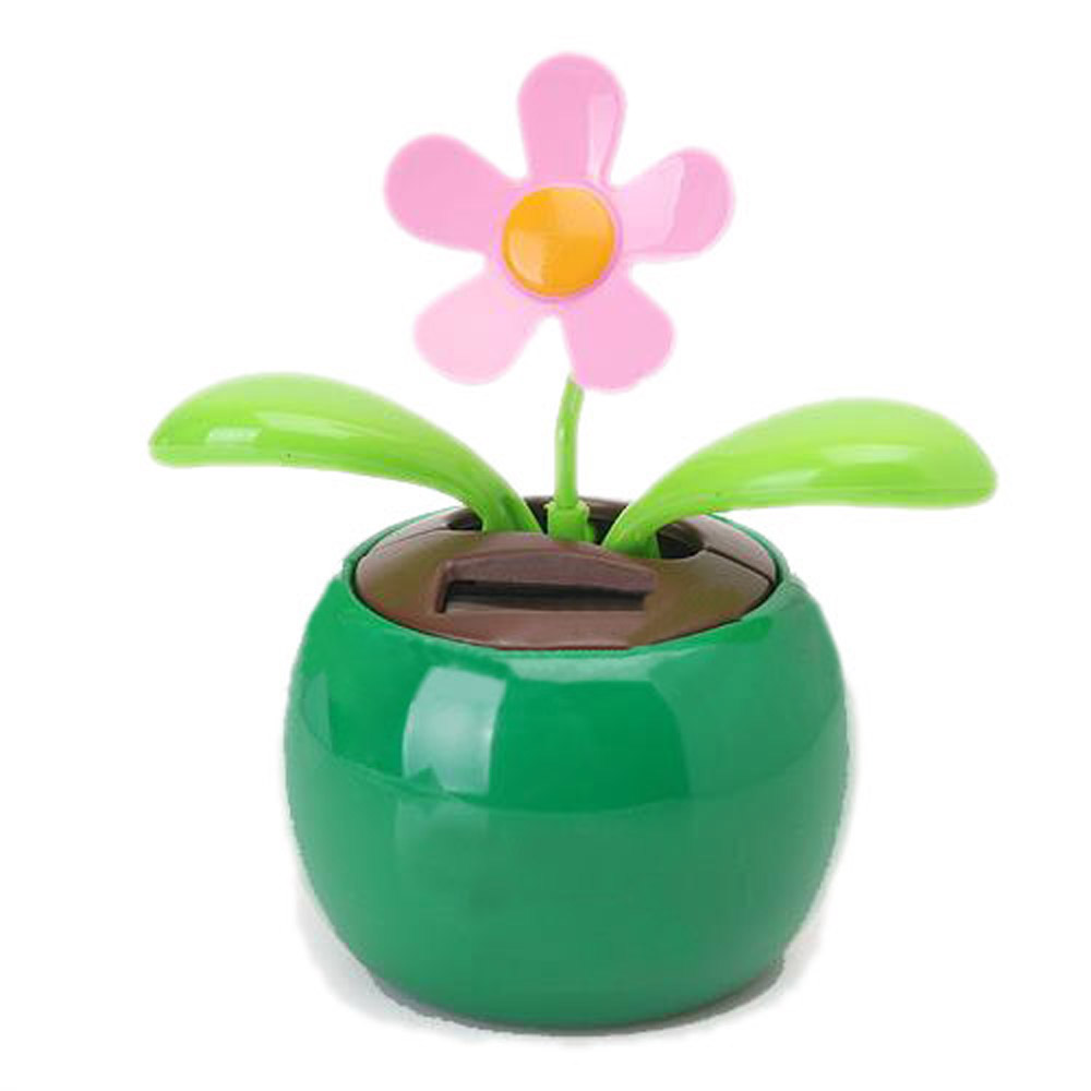 EDFY Flip Flap Solar Powered Flower Flowerpot Swing Dancing Toy Novelty Home Ornament(China (Mainland))