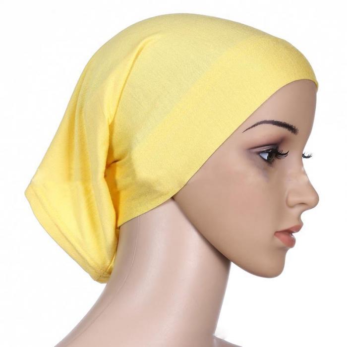 Mujeres Damas Bajo Bufanda Hijab lazo a la espalda hueso Sombrero Gorra Elástico