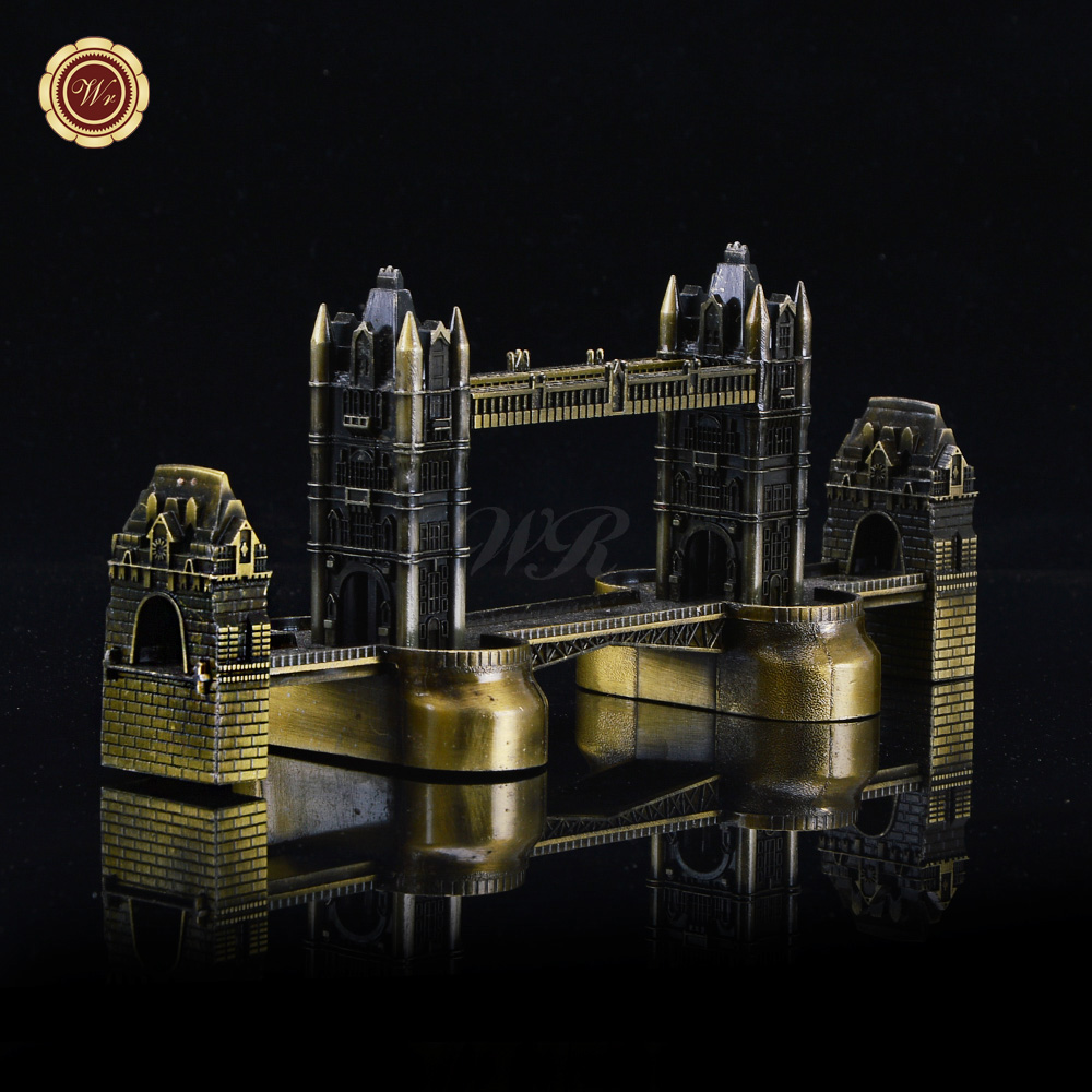 Decorative Gift Item Metal Carft London Bridge Model Toy Famous Building Bronze Home Office Desk Decor(China (Mainland))