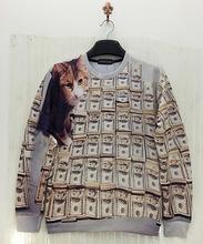 Harajuku 2015 new 3D pullover hoodies print cartoon Bambi/Despicable Me/pineapple vintage coins funny sweatshirts for man/woman(China (Mainland))