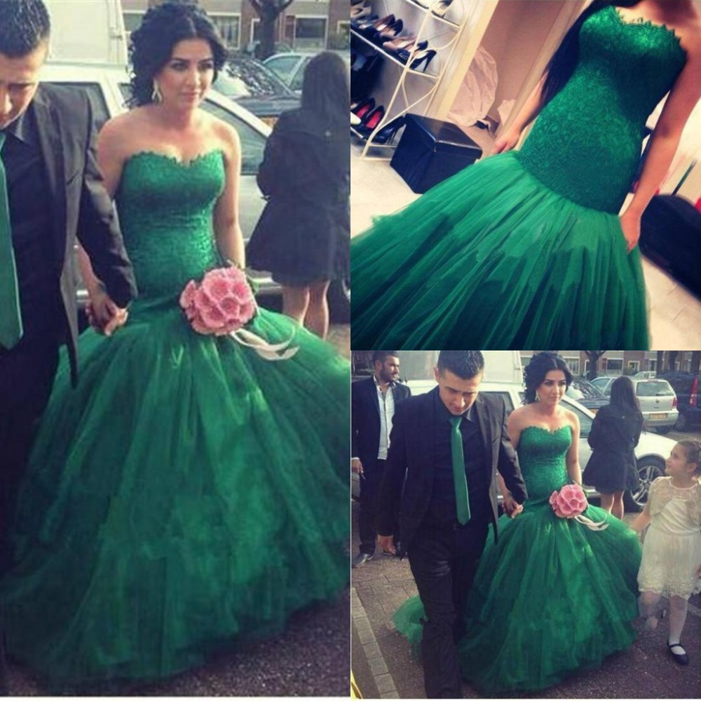 wedding ideas my style green wedding dresses Ziad Nakad Emerald Green Wedding Gown