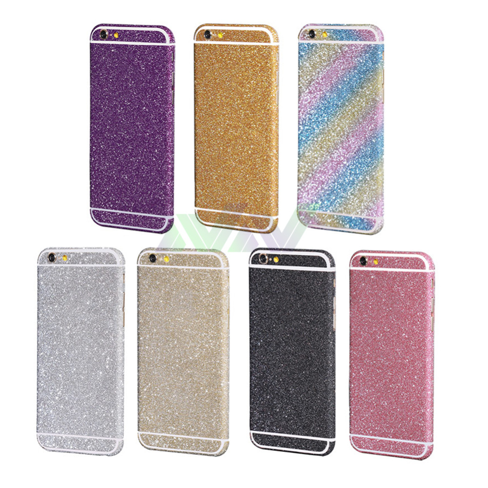 Diamond Glitter Bling Decals Sticker Protector Case For iPhone 6 plus(China (Mainland))