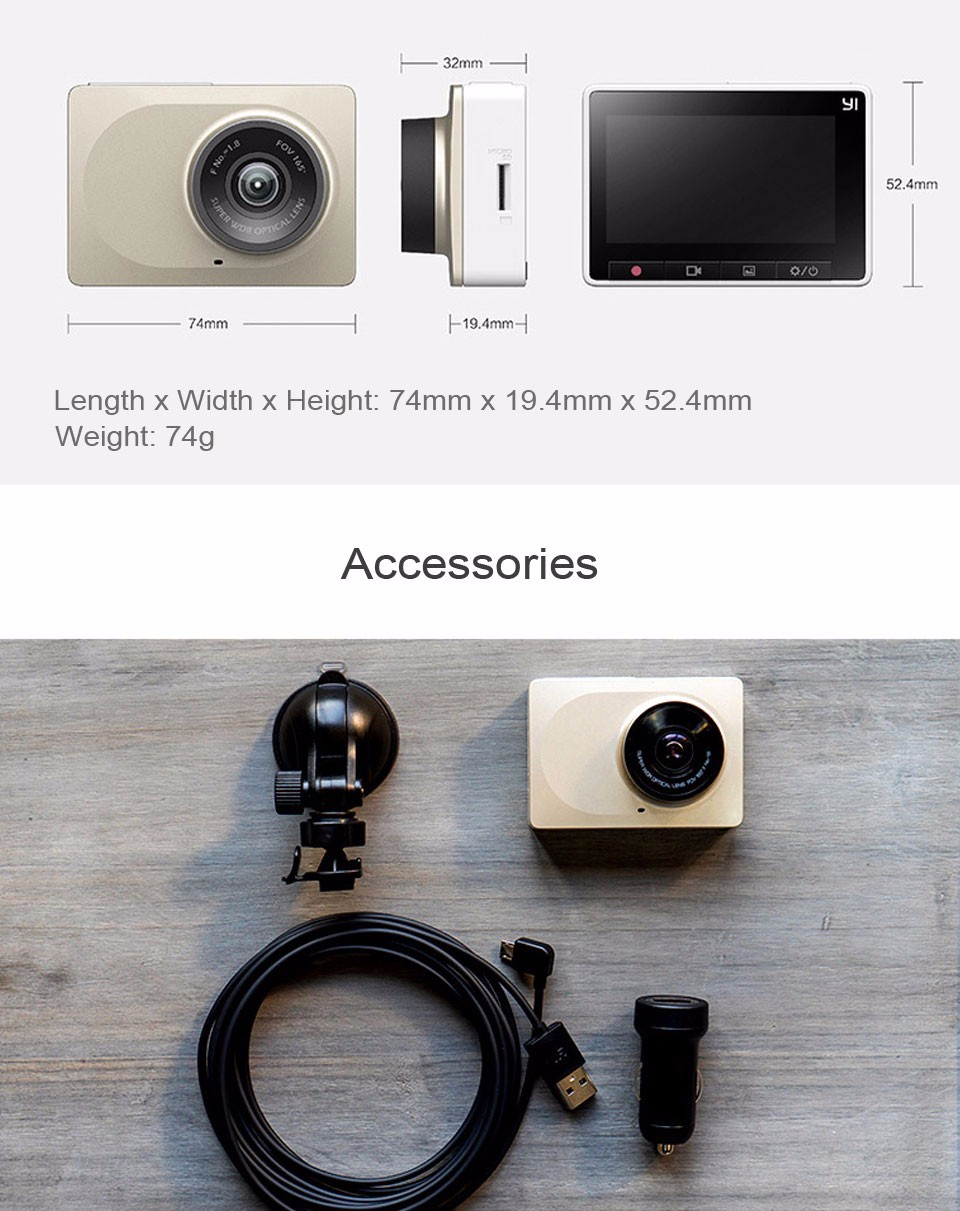 Xiaomi YI Smart Dashcam Car DVR (10)