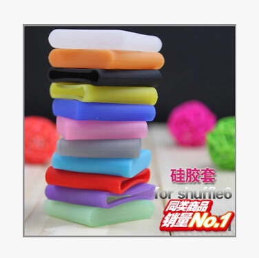 Multicolor Silicone rubber Protective cover protector case for iPod Shuffle 4 6 7 case for ipod shuffle Ipod Free Shipping(China (Mainland))