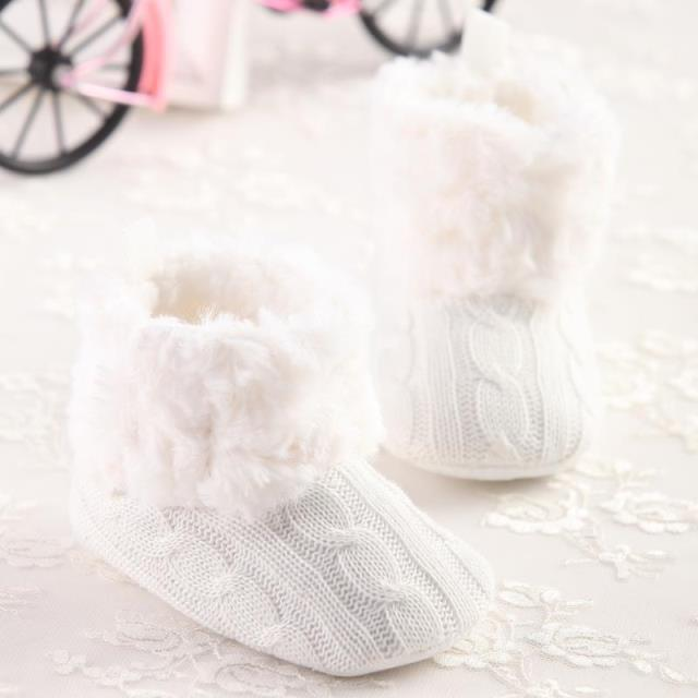 Free Shipping New 2015 Baby Girl Shoes First Walkers Children shoes Infant Newborn Kids Winter White Fur Comfortable Warm(China (Mainland))