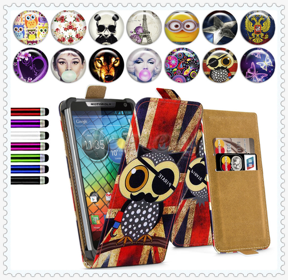 4.3'' Phone Case For Motorola razr i XT890 4.3inch , Leather Case,PU Leather Skin Wallet Stand Card Slot Case Cover For Motorola(China (Mainland))