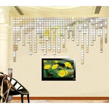 100pcs 2x2cm Fashion Silver 3D Wall Sticker Wall Paper Mosaic Mirror Sofa Living Room Decoration(China (Mainland))