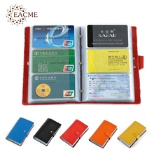 Buy EACME Large Capacity 90 Pieces Business Card Package Hasp Card Bags Bank Card Packs Soft Leather ID Credit Cards Case Holder HOT for $7.80 in AliExpress store
