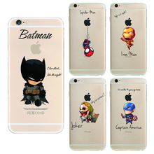 batman The Avengers Phone Case Cover For Apple i Phone iPhone 5 5S SE 6 6S 6 plus Case iron Maniron Man Captain America Raytheon(China (Mainland))