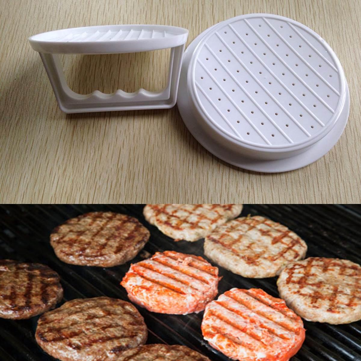 Plastic Hamburger Meat Beef Grill Burger Press Patty Maker Mold Mould Kitchen(China (Mainland))