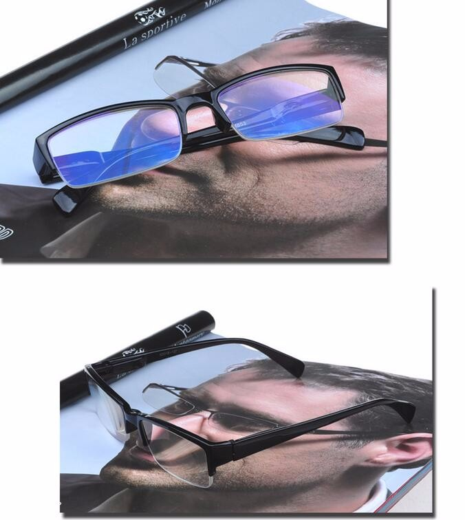 High quality LIXINTAI brand Blue film plating presbyopic Glasses reading Half frame Ultra clean ultra Super clear Glasses 853