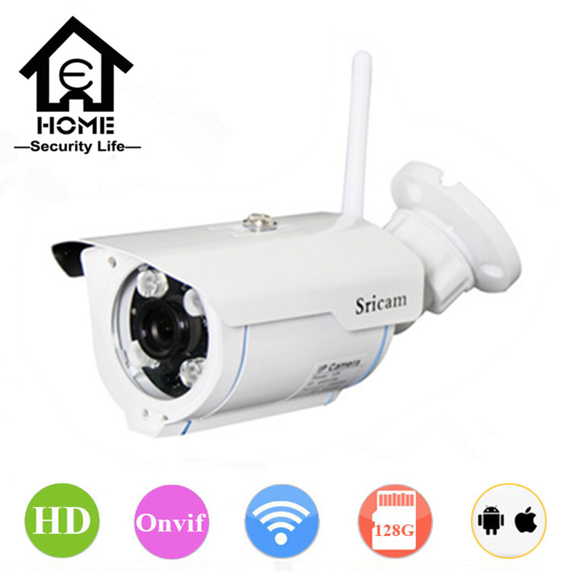 Sricam 720P HD IP Camera WIFI Onvif 2.4 P2P for Smartphone Waterproof Vandalproof Support 128G SD TF Card 15m IR Outdoor IP Cam(China (Mainland))