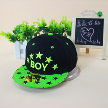 Gorras Letter Cotton 2016 New Hot Unisex Fashion Casual Children Snapback Caps Adjustable Five Star Flat Boy Baseball Cap