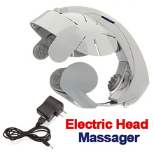 1PCS Humanized Design Electric Head Massager Brain Massage Relax Easy Acupuncture Points Fashion Gray Health Care Home