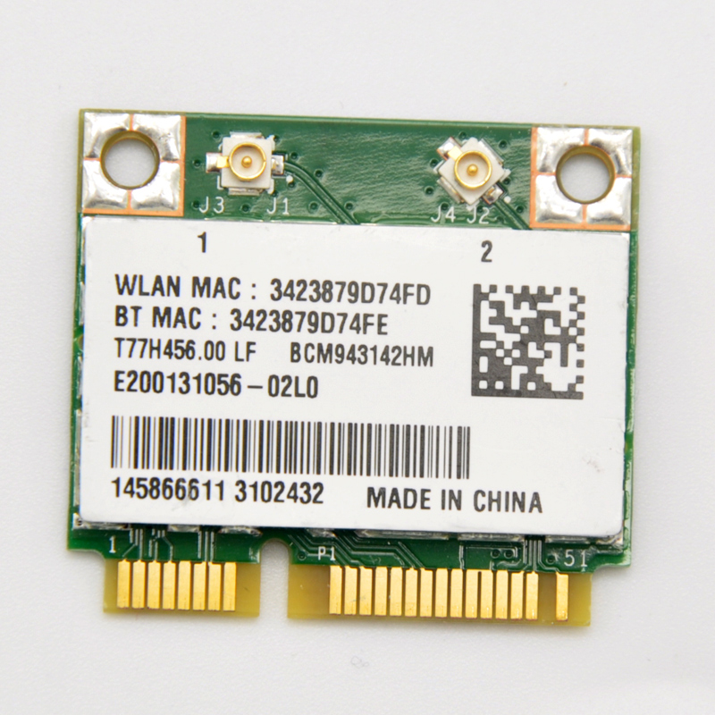 NEW Broadcom BCM943142HM 300Mbps PCi-E WiFi Adapter Mini PCi Express WiFi with Bluetooth 4.0 Adapter for for Laptop PC(China (Mainland))