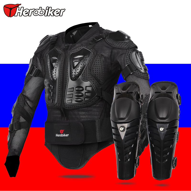 HEROBIKER Motorcycle Knee protector motorcycle Body Armor Protection Motorcross Racing Spine Chest Protective Jacket(China (Mainland))