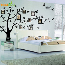 Buy Large 200*250Cm/79*99in Black 3D Sticker DIY Photo Tree PVC Wall Decals Adhesive Family Wall Stickers Mural Art Home Decor for $10.06 in AliExpress store